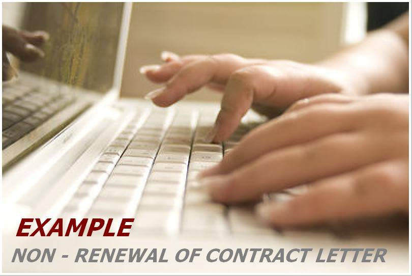 Example Letter For Non Renewal Of Contract Patnubay Online